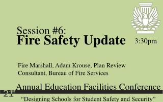 """Designing Schools for Student Safety and Security"""