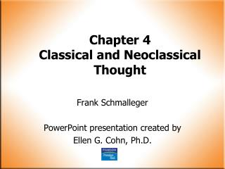 Chapter 4 Classical and Neoclassical Thought