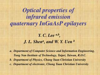 Optical properties of  infrared emission  quaternary InGaAsP epilayers