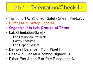 Lab 1:  Orientation/Check-In