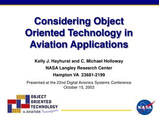 Considering Object Oriented Technology in Aviation Applications