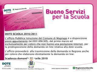 DOTE SCUOLA 2010/2011