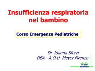 Insufficienza respiratoria nel bambino