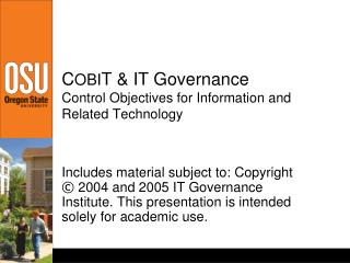 A High-level Look at COBIT From an MIS Perspective