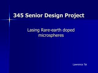 345 Senior Design Project