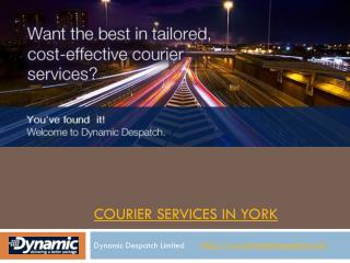 Courier services in York
