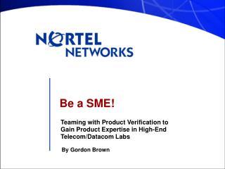 Be a SME!