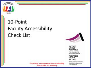 10-Point  Facility Accessibility  Check List