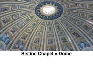 Sistine Chapel = Dome