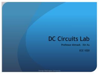 DC Circuits Lab