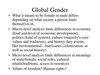 Global Gender