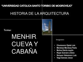 """"""" UNIVERSIDAD CATOLICA SANTO TORIBIO DE MOGROVEJO"""""""