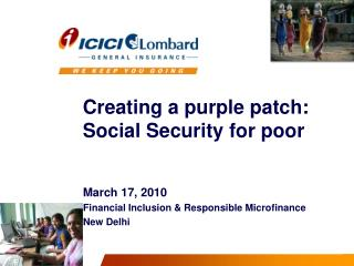Creating a purple patch: Social Security for poor