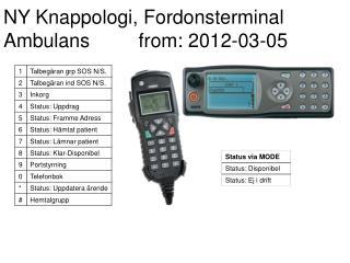 NY Knappologi, Fordonsterminal Ambulans         from: 2012-03-05