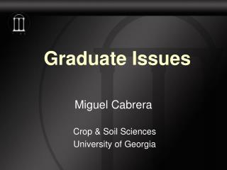 Graduate Issues