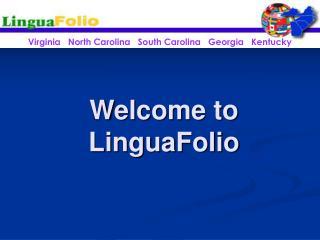 Welcome to LinguaFolio