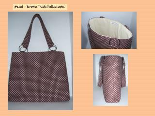 #138 – Brown Pink Polka Dots