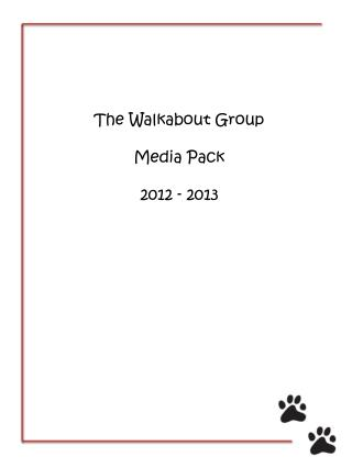 The Walkabout Group Media Pack 2012 - 2013