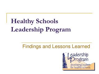 Healthy Schools Leadership Program