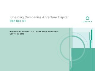 Emerging Companies & Venture Capital: