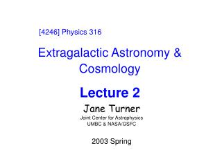 Extragalactic Astronomy & Cosmology Lecture 2