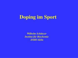 Doping im Sport