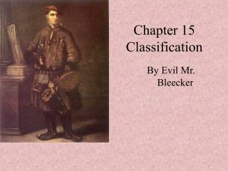 Chapter 15 Classification
