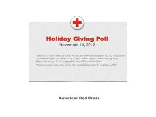 Holiday Giving Poll November  14,  2012