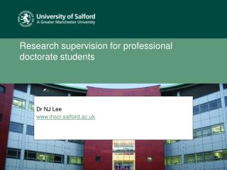 Research supervision for professional doctorate students