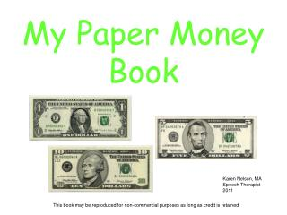 My Paper Money Book