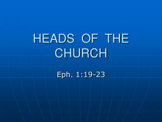 HEADS  OF  THE  CHURCH