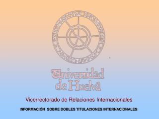 Vicerrectorado de Relaciones Internacionales