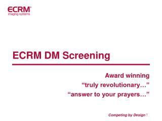 ECRM DM Screening