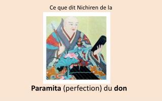 Paramita  (perfection) du  don