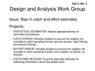 Design and Analysis Work Group