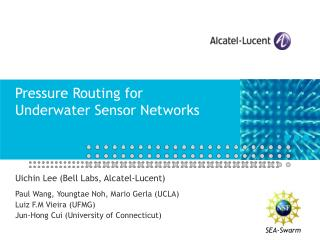Pressure Routing for Underwater Sensor Networks