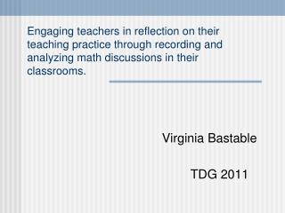 Virginia Bastable TDG 2011