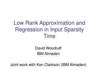 Low Rank Approximation and Regression in Input Sparsity Time