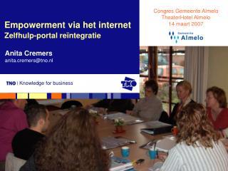 Empowerment via het internet Zelfhulp-portal reïntegratie