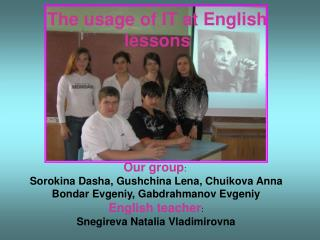 The usage of IT at English lessons