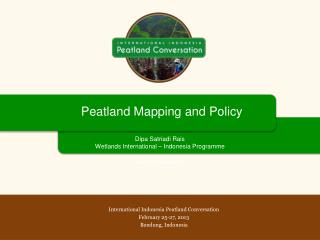 Peatland  Mapping and Policy
