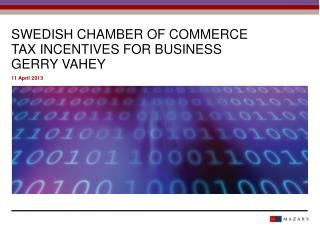 Swedis h chamber of commerce tax incentives for business gerry vahey