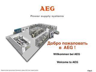 Добро пожаловать      в   AEG  !