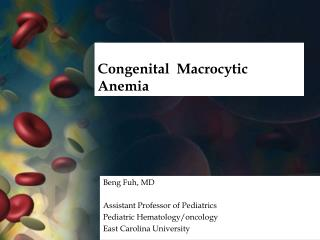 Congenital   Macrocytic  Anemia