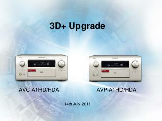 3D+ Upgrade AVC-A1HD/HDA                         AVP-A1HD/HDA 14th July 2011