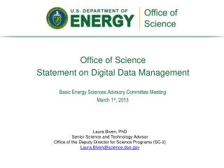 Office of Science  Statement on Digital Data Management