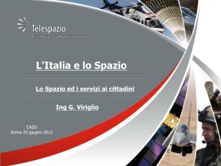 L'Italia e lo Spazio