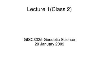 Lecture 1(Class 2)