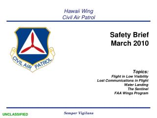 Safety Brief  March 2010