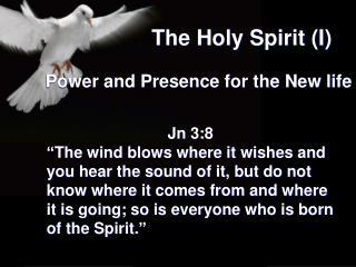 The Holy Spirit (I)
